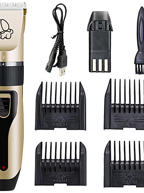 cheap Prom Dresses-Animal & Pet Care Cat Dog Grooming Scissors & Clippers Hair Trimmers Hair Clipper Tool Kit Cordless Low Noise Ceramic Plastic Grooming Kits Comb Brush Wireless Low Noise Electric Pet Grooming Supplies