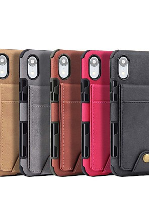 cheap iPhone Cases-Case For Apple iPhone 11 / iPhone 11 Pro / iPhone 11 Pro Max Wallet Back Cover Tile PU Leather
