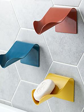 cheap Bathroom Gadgets-Wall Mounted Soap Dish Draining Punch-free Plastic Soap Holder Soap Box Soap Rack Bathroom Shelf