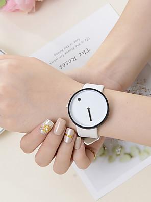 cheap Quartz Watches-Women's Quartz Watches Quartz Stylish Fashion Casual Watch PU Leather White / Blue Analog - White / Black White Black One Year Battery Life