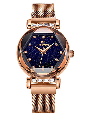 cheap Quartz Watches-Women's Quartz Watches Quartz Luxury Water Resistant / Waterproof Analog - Rose Gold Purple One Year Battery Life / Japanese / Japanese