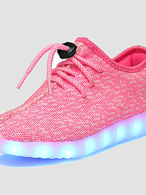 cheap Evening Dresses-Unisex LED / LED Shoes / USB Charging Tulle Sneakers Little Kids(4-7ys) / Big Kids(7years +) Lace-up / LED / Luminous Grey / Pink / Blue Spring / Fall / Rubber