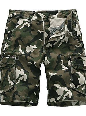 "cheap Hiking Trousers & Shorts-Men's Women's Hiking Shorts Hiking Cargo Shorts Solid Color Summer Outdoor 9"" Standard Fit Breathable Quick Dry Sweat-wicking Comfortable Shorts Bottoms Army Green Camouflage Dark Gray Light Grey"