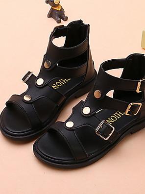 cheap Girls' Dresses-Girls' Comfort Synthetics Sandals Little Kids(4-7ys) Black / Pink / Beige Summer