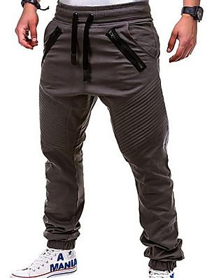 abordables Camisas de Hombre-Hombre Básico Corte Ancho Jogger Pantalones - Un Color Blanco Negro Caqui US34 / UK34 / EU42 / US36 / UK36 / EU44 / US38 / UK38 / EU46