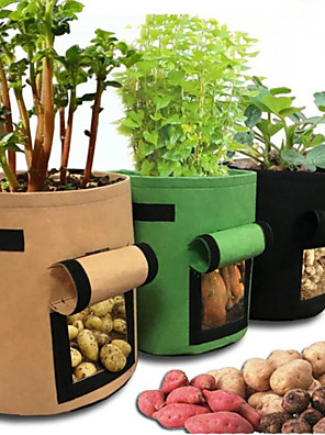 cheap Hand Tools-Potato Grow Bags, Plant Grow Bags 7 Gallon Heavy Duty Thickened Growing Bags Planting Pots Container Garden Vegetable Planter with Ziplock