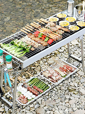 cheap Hand Tools-Standi Stainless Steel Barbecue Portable Folding Charcoal Barbecue Outdoor Bbq Barbecue