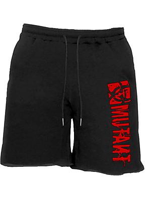cheap Men's Pants & Shorts-Men's Sporty Loose Shorts Pants - Print Cotton Red Yellow Army Green US32 / UK32 / EU40 / US34 / UK34 / EU42 / US36 / UK36 / EU44