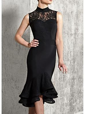 cheap Junior Bridesmaid Dresses-Latin Dance Dress Ruffles Women's Performance Sleeveless Polyester Taffeta