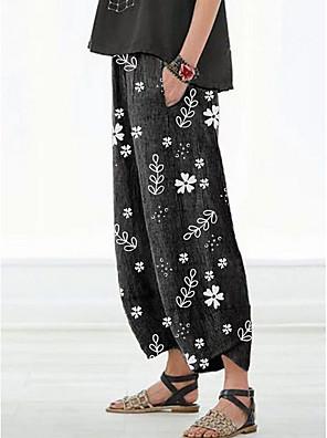 cheap Women's Pants-Women's Basic Loose Jogger Pants Print Red S M L