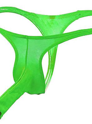 cheap Men's Exotic Underwear-Men's Basic G-string Underwear - Normal Low Waist Red Green White One-Size