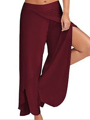 cheap Women's Pants-Women's Sporty Slim Chinos Pants - Solid Colored Wine White Black S / M / L