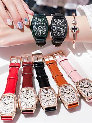 cheap Quartz Watches-Women's Quartz Watches Quartz Luxury Water Resistant / Waterproof Genuine Leather Analog - White / Black Black Red One Year Battery Life / Japanese / Japanese