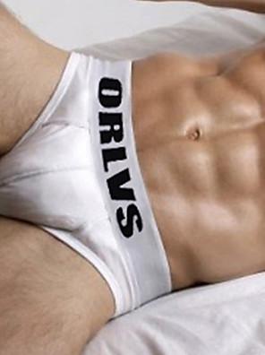 cheap Men's Exotic Underwear-Men's Basic Briefs Underwear - EU / US Size Mid Waist Red Blue Royal Blue M L XL