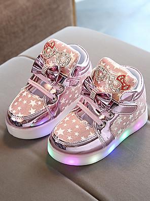 cheap Girls' Dresses-Girls' LED / Comfort / USB Charging PU Sneakers Little Kids(4-7ys) Luminous Fuchsia / Pink / Gold Fall / Winter