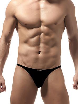 cheap Men's Exotic Underwear-Men's Basic Briefs Underwear Low Waist Blushing Pink Orange Blue M L XL
