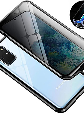 cheap Samsung Case-Magnetic Metal Case 9H Tempered Glass Front and Back Cover Case For Samsung Galaxy S10 / S10plus 9H Tempered Glass Metal Frame Dsorption / Shock-Absorption / Anti-spy / Case For Samsung Galaxy S9