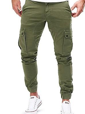 abordables Camisas de Hombre-Hombre Básico Corte Ancho Chinos Pantalones - Un Color Negro Verde Ejército Caqui US32 / UK32 / EU40 / US34 / UK34 / EU42 / US36 / UK36 / EU44