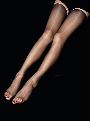 cheap Socks & Hosiery-Women's Thin Super Sexy Stockings - Transparent / Sexy 10D Black Beige Gray One-Size