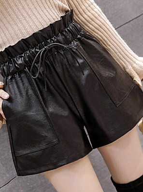 cheap Women's Dresses-Women's Basic Loose Shorts Pants - Solid Colored Black S / M / L