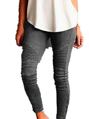 cheap Women's Pants-Women's Basic Plus Size Chinos Pants - Solid Colored Wine Black Blue XS / S / M