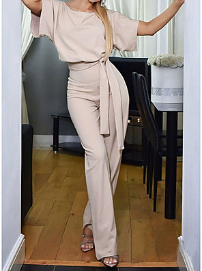 povoljno Ženski jednodijelni kostimi-vezni kombinezon kratkih rukava