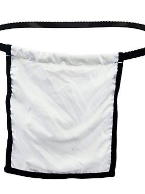 cheap Men's Exotic Underwear-Men's Cut Out G-string Underwear - Normal Low Waist White One-Size