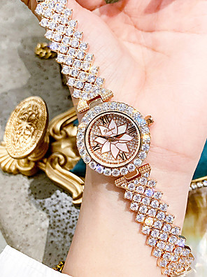 cheap Quartz Watches-Women's Quartz Watches Luxury Elegant Alloy Japanese Quartz Rose Gold Silver Water Resistant / Waterproof Diamond 30 m Analog One Year Battery Life