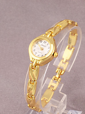 cheap Quartz Watches-Women's Quartz Watches Fashion Gold Alloy Chinese Quartz Gold Adorable 1 pc Analog One Year Battery Life