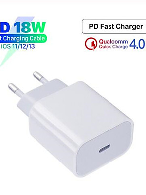 cheap Charger Kit-Original 18W PD QC4.0 3.0 Fast Charger for Apple iPhone 11 Pro 8 Plus XR XS Max iPad mini USB Type-C Quick Charge Travel Adapte