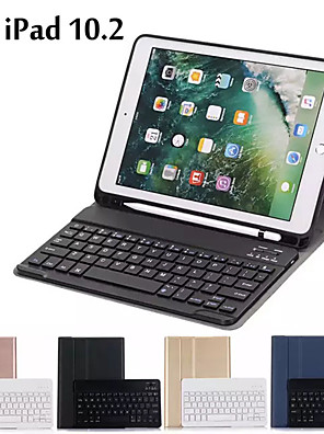 cheap iPad case-Case For iPad 10.2 Case Ultra thin Detachable Wireless Bluetooth Keyboard Case cover For iPad 7th Generation