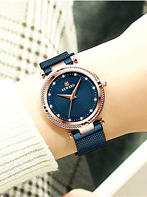 cheap Quartz Watches-Women's Steel Band Watches Quartz Luxury Water Resistant / Waterproof Stainless Steel Analog - Rose Gold Black Blue One Year Battery Life / Japanese / Japanese