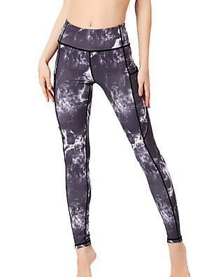 cheap Leggings-Women's Basic Slim Jogger Pants - Floral White Black Blue S / M / L