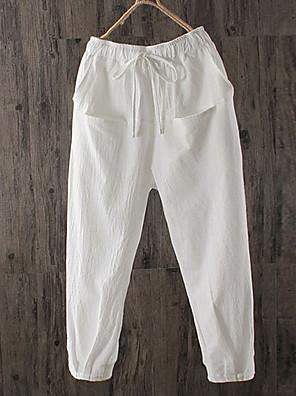 cheap Wedding Dresses-Women's Basic Chinos Pants - Solid Colored White Brown Black S M L