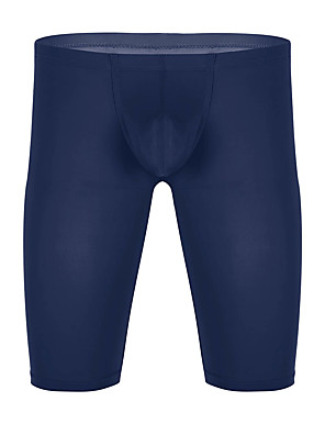 cheap Men's Exotic Underwear-Men's Basic Boxers Underwear - Normal Mid Waist Fuchsia Royal Blue White S M L