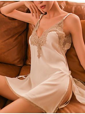 cheap Suits-Women's Lace Babydoll & Slips Nightwear Color Block Wine Green White M L
