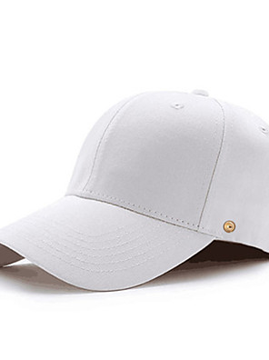 cheap Men's Hats-Men's Sun Hat PU Cotton Basic - Solid Colored All Seasons White Black Red