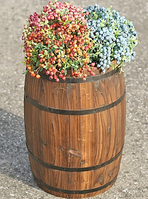 cheap Hand Tools-Gardening Carbonized Anticorrosive Solid Wood Beer Barrel Flower Pot Bar Wine Cabinet Decoration Barrel Exhibition Furnishings Wedding Props
