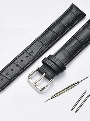 cheap Leather Watch Bands-Cowhide Watch Band Black / Brown 20cm / 7.9 Inches 1.4cm / 0.55 Inches / 2cm / 0.8 Inches