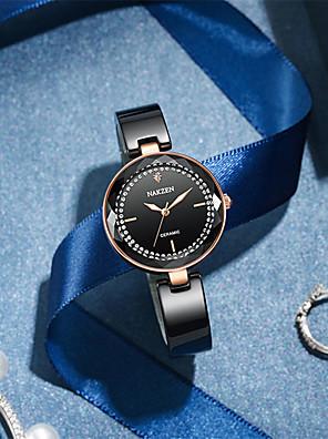 cheap Quartz Watches-Women's Quartz Watches Quartz Luxury Water Resistant / Waterproof Ceramic Analog - Black One Year Battery Life / Japanese / Noctilucent / Japanese