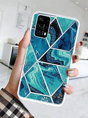 billige Etuier/deksler til Huawei-veske til huawei p smart 2019 / honor 8a / y7 2019 ultratynn / frostet / mønster bakdeksel geometrisk mønster / marmor tpu for huawei p smart z / y6 2019 / honning 8x / 20/20 pro / 9x / 9x pro / p40