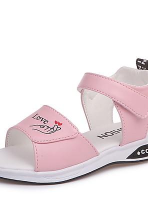 cheap Girls' Dresses-Girls' Comfort Synthetics Sandals Little Kids(4-7ys) White / Black / Pink Summer