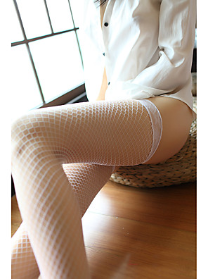 cheap Socks & Hosiery-Women's Thin Stockings - Sexy / Lace 30D Blushing Pink Red White One-Size
