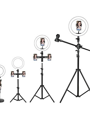 cheap Prom Dresses-LED Selfie Ring Light Fill Light TikTok Lights Youtube Video Dimmable Broadcast Live with Stand Phone Holder Microphone 1pc 2pcs