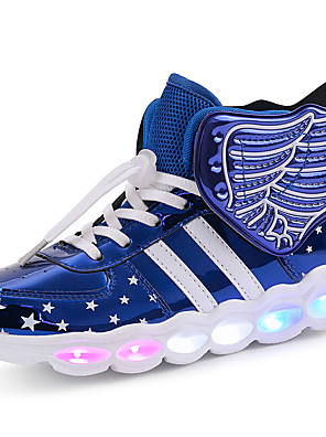 cheap Plus Size Dresses-Boys' / Girls' Sneakers LED Shoes / USB Charging PU LED Shoes Little Kids(4-7ys) / Big Kids(7years +) Walking Shoes LED / Luminous Black / Red / Blue Spring / Winter