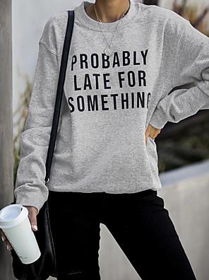 abordables Robes Femme-Femme Sweatshirt Lettre Simple Sortie Mince Vin Noir Gris Clair S M L XL XXL XXXL XXXXL XXXXXL