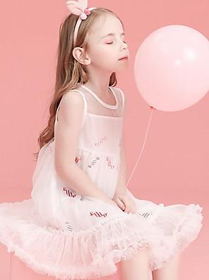 cheap Flower Girl Dresses-Kids Girls' Solid Colored Dress White