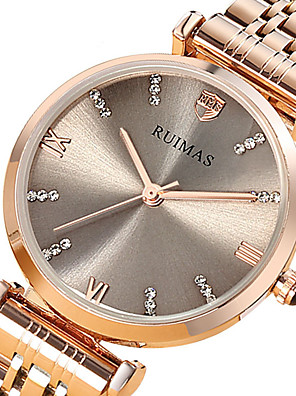 cheap Quartz Watches-Women's Steel Band Watches Quartz Luxury Water Resistant / Waterproof Stainless Steel Analog - Gold Silver One Year Battery Life / Japanese / Japanese
