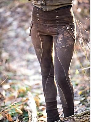 cheap Women's Pants-Women's Basic Loose Chinos Pants - Tie Dye Green Brown S / M / L