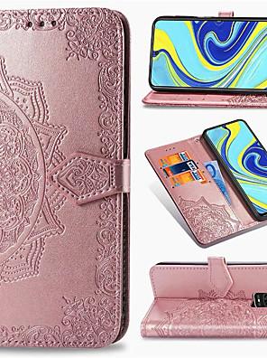 povoljno Maske/futrole za Xiaomi-Futrola za reljef mandale s reljefnom kožom za xiaomi redmi note 9 pro max note 8 pro note 8t redmi 8 8a redmi 7 7a k30 k20 mi 10 pro mi note 10 mi 9t mi 9 se mi cc9 pro cc9e držač kartice postolje